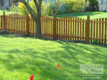 cedar-fence-installed-in-Tinley Park-Illinois-166