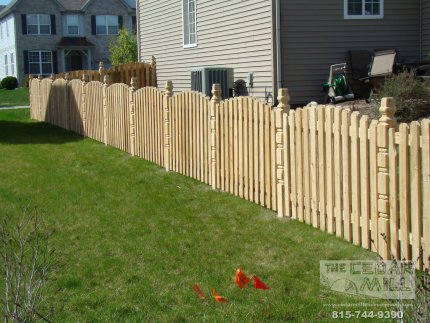cedar-fence-installed-in-Tinley Park-Illinois-172